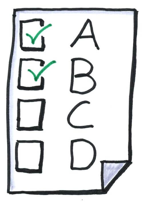 Multiple Choice Test:  Are They Truly Easier?